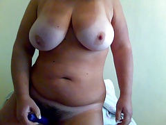 Obese doll jerking anal..