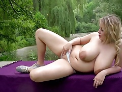 Chubber  off  breasts outside