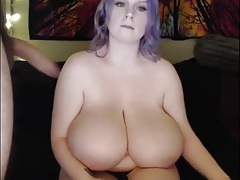 Thick breasts oral job