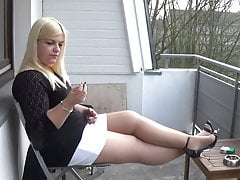 Mariella Smoking in Tights..