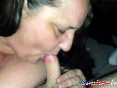 Bbw granny neighbor sucking